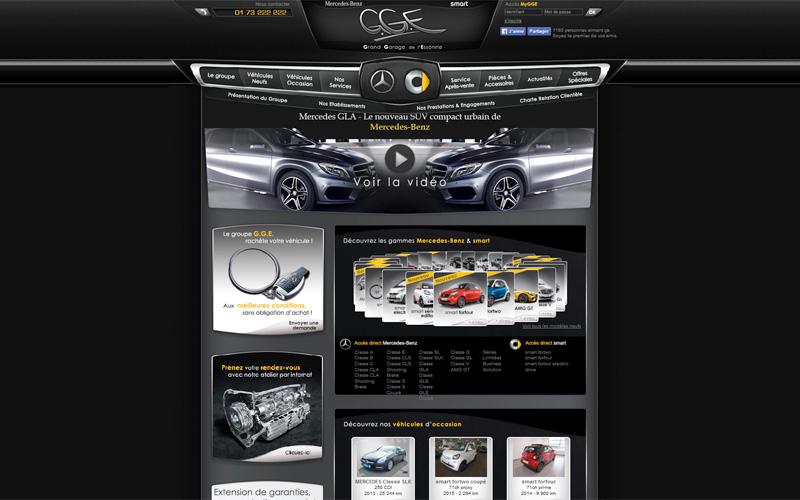 Concessionnaire automobile, garage pour mercedes et smart
