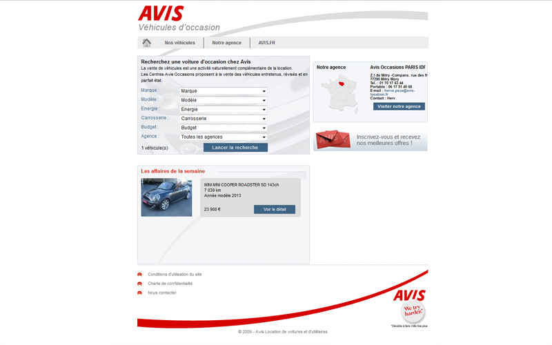Site automobile Avis