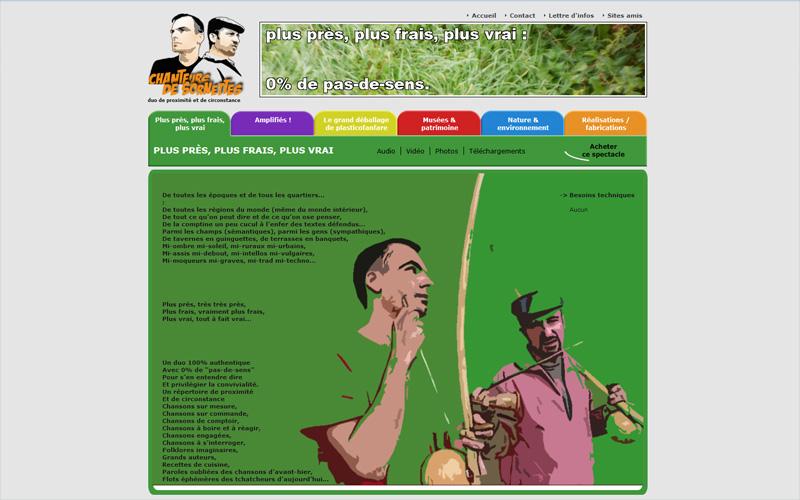 Chanteurs de sornettes, site internet pour musiciensx500