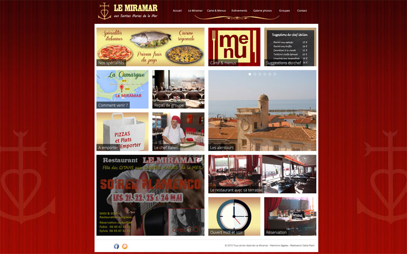 Site responsive pour restaurant