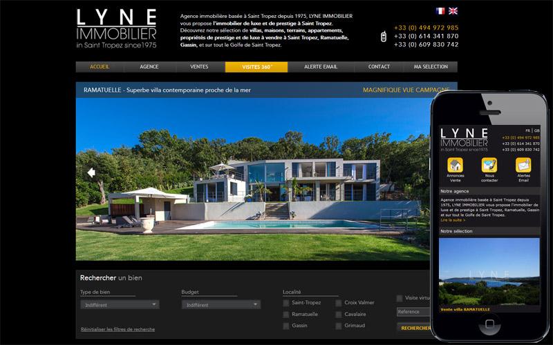 Agence immobilière Lyne Immobilier, Saint-Tropez