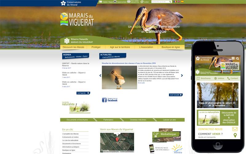 Site internet des Marais du Vigueirat