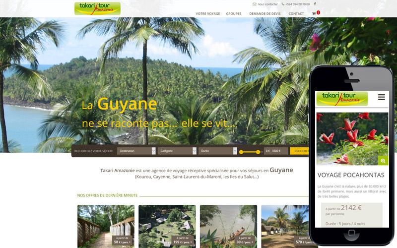 création site agence de voyage responsive , site mobile agence de voyage
