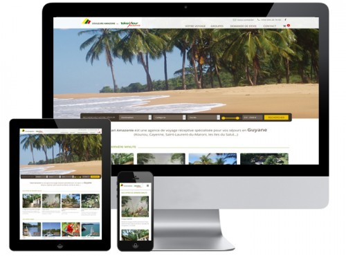 création site web tourisme - Agence de voyage, hotel, camping, gite, location saisonnière, chambre d'hôte