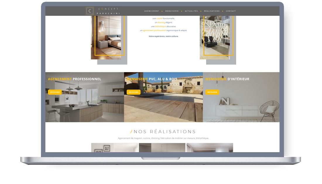 Site web pour entreprise agencement et menuiserie, Saint Martin de Crau