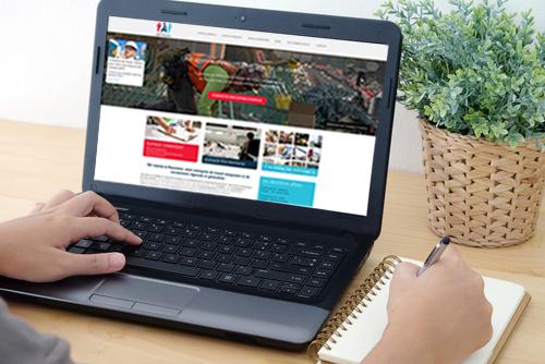 Site web pour une agence d'interim